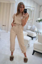 Load image into Gallery viewer, REECE Camel Shoulder pad Boxy Fit Loungewear Set