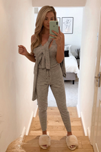 Load image into Gallery viewer, KIMMY Grey Knitted 3-piece Loungewear set
