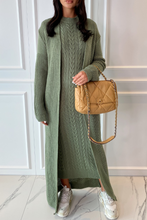 Load image into Gallery viewer, CARLA Mint Maxi Cardigan And Dress Knitted Set