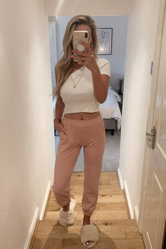 AVIANNA Blush Pink Basic Joggers