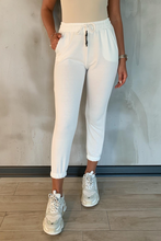 Load image into Gallery viewer, GABRIELLA White Basic Joggers