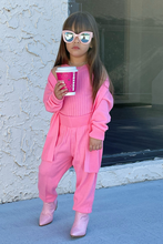 Load image into Gallery viewer, Mini KIMMY Pink 3 Piece Loungewear Set