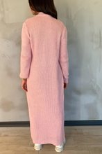 Load image into Gallery viewer, CARLA Pink Maxi Cardigan And Dress Knitted Set