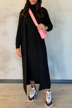 Load image into Gallery viewer, CARLA Black Maxi Cardigan And Dress Knitted Set