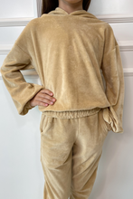 Load image into Gallery viewer, Mini SUGAR Camel Toweling Hooded Loungewear Set