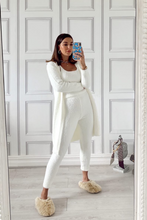 Load image into Gallery viewer, ROCHELLE Cream Jogger Soft Knit 3-piece Loungewear set