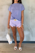 Load image into Gallery viewer, BELLA Lilac Boxy Cropped T-Shirt