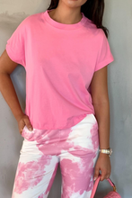 Load image into Gallery viewer, BELLA Pink Boxy Cropped T-Shirt
