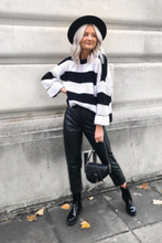 Load image into Gallery viewer, KARA Black and Cream Striped Jumper
