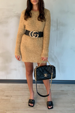 Load image into Gallery viewer, CARA Camel Knitted Jumper Dress