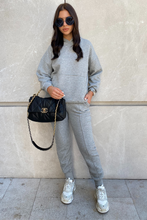 Load image into Gallery viewer, COCO Grey Waffle Texture Hooded Loungewear Set