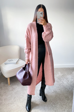 Load image into Gallery viewer, LUCY Pink Knitted Bell Sleeve  Maxi Cardigan
