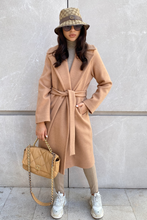 Load image into Gallery viewer, SARA Camel Longline Coat