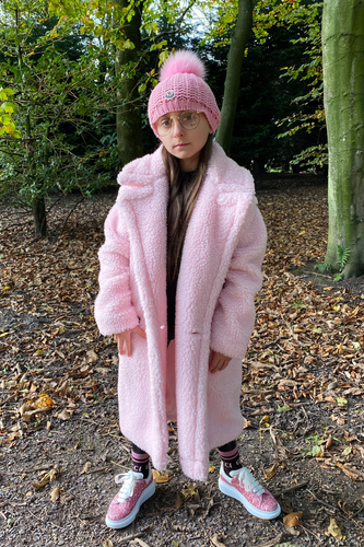 Mini LILY Powder Pink Teddy Coat
