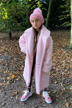 Load image into Gallery viewer, Mini LILY Powder Pink Teddy Coat