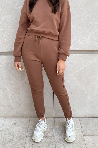 MEL Brown Basic Joggers