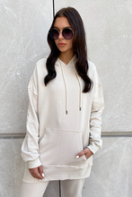 Load image into Gallery viewer, LYDIA beige Oversized Hoodie
