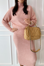 Load image into Gallery viewer, NADA Pink Roll Neck Jumper And Skirt Co-Ord