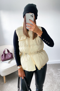 KIMBERLY Cream Padded Vest