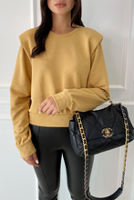 Load image into Gallery viewer, STEPH Mustard Bold Shoulder Long Sleeve Top