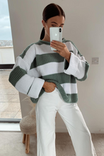Load image into Gallery viewer, KARA Mint and Cream Striped Jumper