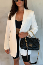 Load image into Gallery viewer, LOUIS Cream Pocket Detail Oversized Blazer