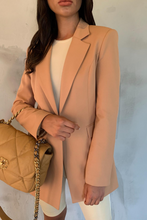 Load image into Gallery viewer, LOUIS Camel Pocket Detail Oversized Blazer
