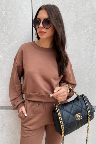 MARY Brown Cropped Jumper