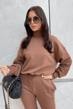 Load image into Gallery viewer, ADELLE Brown Roll Neck Jumper