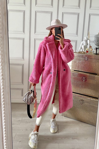LILY Hot Pink Teddy Coat