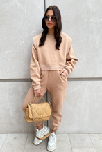 Load image into Gallery viewer, ELLA Camel Side detailing Jogger Set