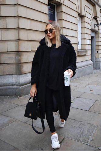 LILY Black Teddy Coat