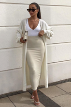 Load image into Gallery viewer, HOLLIE Cream Knitted Maxi Cardigan