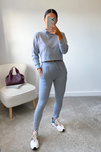 Load image into Gallery viewer, PASTELLE Grey High Neck Pin Stripe Loungewear Set