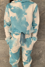 Load image into Gallery viewer, Mini MAISEY Blue Tie Dye Hooded Lounge Set