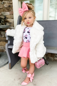 Mini BOO BOO Cream Faux Fur Coat
