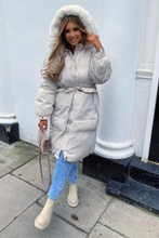 Load image into Gallery viewer, DELILAH Cream Faux Fur Parka Padded Coat