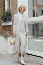 Load image into Gallery viewer, CARLA Beige Maxi Cardigan And Dress Knitted Set