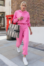Load image into Gallery viewer, STORMY Pink Hooded Knit Loungewear Set