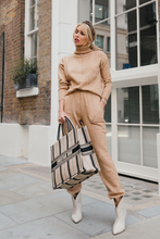Load image into Gallery viewer, LAURA Camel Turtle Neck Soft Knit Loungewear Set