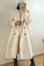 Load image into Gallery viewer, DANIKA Cream Belted Longline Coat
