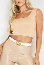 Load image into Gallery viewer, WILLA Camel Square Neck Crop Top