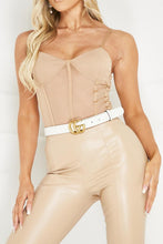 Load image into Gallery viewer, HARLOW Camel Panel Detail Mesh Bodysuit