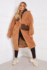 LILY Camel Teddy Coat