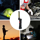 Portable 5 Mode COB Flashlight Torch USB Rechargeable LED Work Light - Outlet Utria