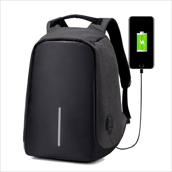 Men Backpack Casual Fashion Laptop Anti-theft Notebook School Bag with USB Port - Outlet Utria