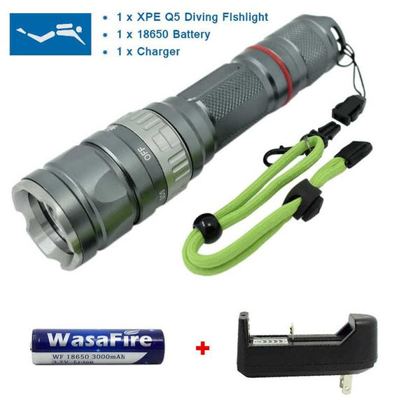 Powerful Underwater LED Diving Flashlight Professional Diving Torch - Outlet Utria