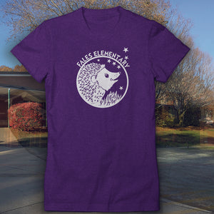 "Fales Elementary ""Purple Heather Hedgehog"" Junior style T-shirt"