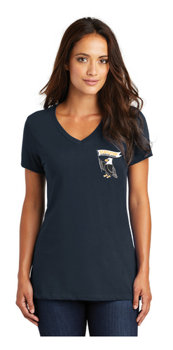 Stapleton Ladies V-Neck Small Logo T Shirt