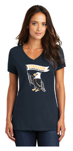 Stapleton Ladies V-Neck Large Logo T Shirt